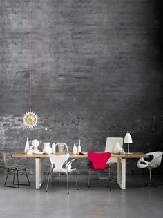 Essay dining table, designed in 2009 by Cecilie Manz for Fritz Hansen via Nordic Leaves