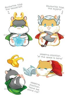 HamThorki ♡ Toys & Sleeping
