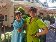 Wendy and Peter hanging out #Disneyland
