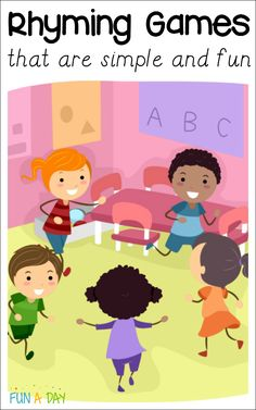 10 rhyming games for preschoolers that are fun, engaging, and super low prep. Get the kids learning to rhyme in no time with these rhyming activities! Kindergarten Games, Preschool Literacy, Early Literacy, Toddler Preschool, Preschool Music, Teaching Music, Circle Time Games, Circle Time Activities, Circle Game