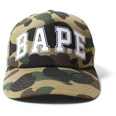 7e339ee0516 1ST CAMO BASEBALL CAP ( 261) ❤ liked on Polyvore featuring accessories