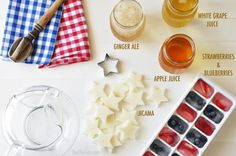 Patriotic Punch #DIY #FourthOfJuly #Cocktails