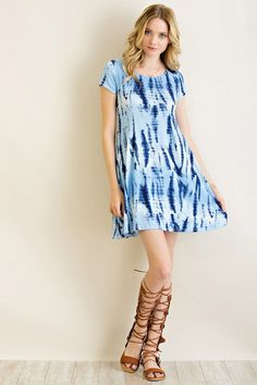 Blue/White Tie Dye Shift Dress - Sm to Lg Monday Specials ~ Clothing ~ 15% off  (including ALL brands) ~ Hudson Jeans $30 off ALL WEEK ~ Dear John Denim 30% off ALL WEEK