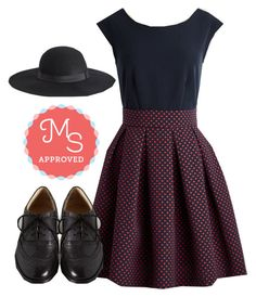 """""""London and Done Dress"""" by modcloth ❤ liked on Polyvore featuring мода и Closet London"""