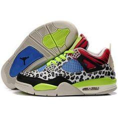 2012 Cheap Jordans 4 Retro Men Leopard Black White Green Blue Red, cheap Jordan If you want to look 2012 Cheap Jordans 4 Retro Men Leopard Black White Green ...