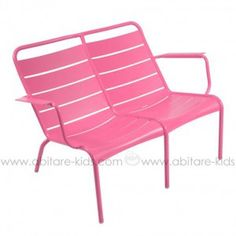 LUXEMBOURG  by Fermob Fauteuil bas duo Fuchsia