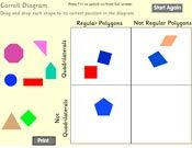 Polygon Sort A variety of interactive online shape games for geometry / geometric shapes. Geometry Lessons, Math Lessons, Geometry Games, Smart Board Activities, Math Activities, Math Games, Fourth Grade Math, First Grade Math, Second Grade