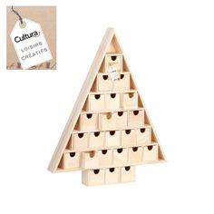 Cultura : Calendrier de l'Avent triangulaire - 51 cm - Loisirs Créatifs Avent Scandi - Accessoires déco