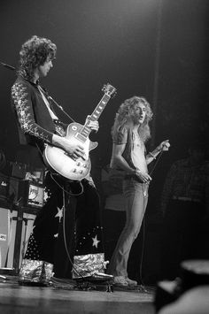 "Led Zeppelin performing during filming ""The Song Remains the Same"" Madison Square Garden, NY 1973 © David Redfern"
