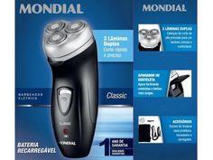 Barbeador Elétrico Mondial Classic - Seco 1 Velocidade com as melhores condições você encontra no Magazine Feirao24horas. Confira!
