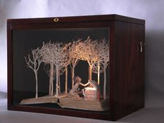 Pandora Opens Box, 2009  Book Sculpture by Su Blackwell