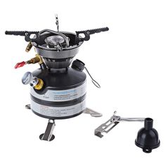 Ultralight Portable Outdoor Gas Stove One-piece Stainless Steel Gas Stove For Outdoor Survival Picnic Light Gas Furnace Cooker