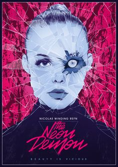 Best Movie Posters of 2016 - The Neon Demon Horror Movie Posters, Best Movie Posters, Movie Poster Art, Horror Films, Cool Posters, Horror Art, The Neon Demon, Film Movie, Poster Minimalista