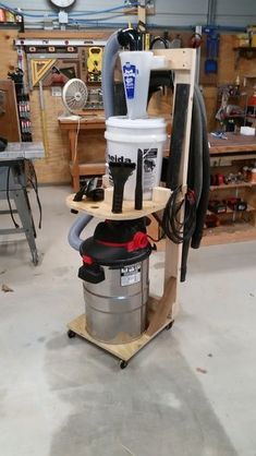 I've been trying to get a better hold on dust collection, so I ordered the Dust Deputy deluxe online. I originally was going to attach it to the shop vac, as it suppose to be, but after watching some Woodworking Ideas Pallets, Woodworking Workbench, Woodworking Workshop, Woodworking Crafts, Woodworking Shop, Woodworking Organization, Woodworking Videos, Woodworking Furniture, Wooden Furniture