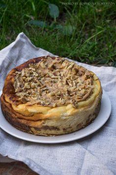 Sernik wiedeński z masłem orzechowym