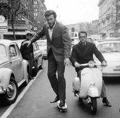 Clint Eastwood skateboarding in Rome