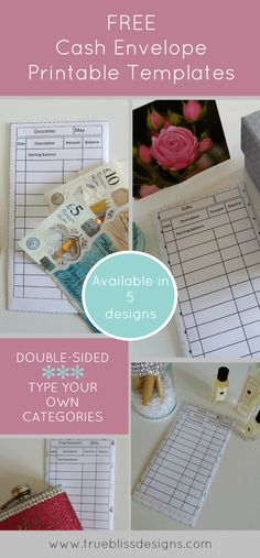 Looking for free DIY printable cash envelope templates? The cash envelope system is a popular way to budget your money, … Dave Ramsey Envelope System, Envelope Budget System, Cash Envelope System, Budget Envelopes, Money Envelopes, Templates Printable Free, Envelope Templates, Free Printables, Budget Planer
