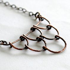 for extra color and detail, I would hang a bead inside each scale. ~ Scales necklace