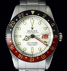 "Rolex GMT ref 6542 ""Albino Pan Am Vanilla Coke GMT-Master"" this is one rare bird!"