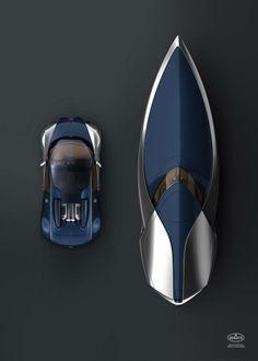 Bugatti car and boat   http://blue-brush.com/