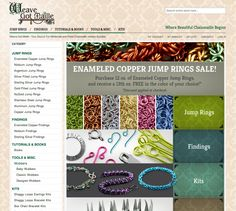 eCommerce Web Design: Weave Got Maille - The Web Shoppe