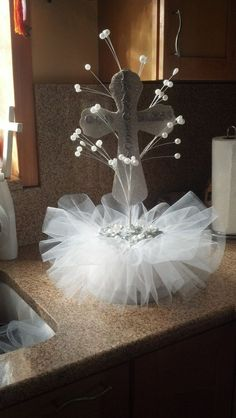 Baptism Centerpieces by StoniasCreations on Etsy