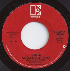 Crazy Little Thing Called Love / Queen, Elektra 1980 70s Music, Dance Music, Music Songs, Good Music, Music Radio, Old Records, Vinyl Records, Make Mine Music, Oldies But Goodies