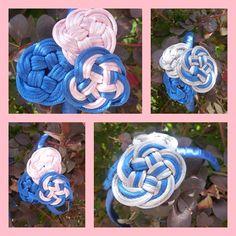 diademas niña - rosa y azul