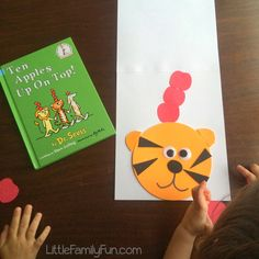 Little Family Fun: Ten Apples Up On Top Craft (Dr. Seuss Book & Craft) You are in the right place ab Dr Seuss Activities, Kindergarten Activities, Book Activities, Activity Ideas, Classroom Activities, Minion Classroom, Apple Activities, Preschool Classroom, Toddler Activities
