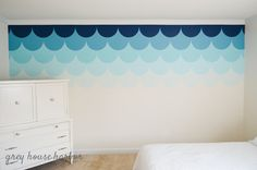 And a tutorial and stencil in this post on how to make wall painting! | ombre scallop wall   { a tutorial }