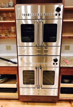 """Wow! A pair cool of 30"""" wall ovens. Experience the power of BlueStar in your home, featuring exceptional, chef-forward performance and design."""
