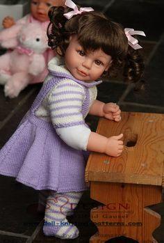Doll knitting pattern | american doll knitting patterns