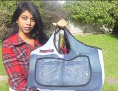 The Sahara Handbag - Upcycled Denim Bag + 8 More Denim Bag Sewing Projects