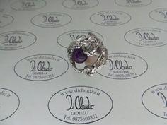 Anello argento e gemme