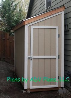 SAMPLE Shed Plans 13, 4x10 Slant Roof, Small Shed, DOWNLOAD
