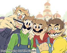 Mundo Super Mario, Super Mario And Luigi, Super Mario Games, Super Mario Art, Super Mario Brothers, Instructions Lego, Nintendo Game, Mario Fan Art, Paper Mario