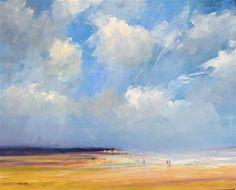 """Daily Paintworks - """"May beach Vrouwenpolder"""" - Original Fine Art for Sale - © Wim Van De Wege"""