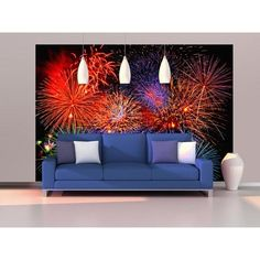 Ideal Decor Fireworks Wall Mural DM131 Wall murals and Products