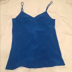 J. Crew Silk Cami Blue very cute silk blue tank top from j. Crew. in excellent condition beautiful color J. Crew Tops Tank Tops