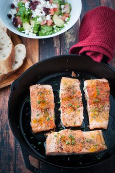 Seared Honey and Orange Glazed Salmon. This honey and orange glazed salmon is citrusy and delicious. It's a perfect meal for busy weekdays because it can be prepared less than 30 minutes.