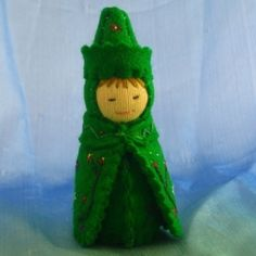 Botany Science Gnome Doll in Green Waldorf by AlkeldaDolls on Etsy, $24.00 by Manueeltje