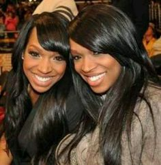 Malika and Khadijah Haqq are descended from the Afro-Iranian community; their parents are immigrants from Khuzestan, Iran. Afro-Iranians are Iranians of confirmed Sub-Saharan African descent. My Black Is Beautiful, Beautiful People, Beautiful Women, Beautiful Curves, Amazing Women, Beautiful Pictures, Afro, Celebrity Twins, Twins