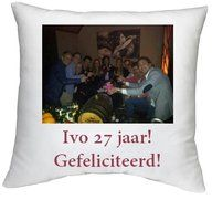 Kussen met eigen bedrukking maken? www.prachtigkado.nl