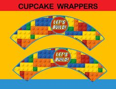Wrap your son's cupcakes with these colorfullego themed wrappers! #cupcakemakeover