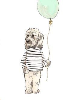 Doodle Balloon by annatyrrell on Etsy