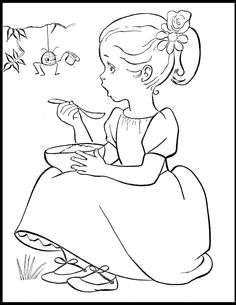 cute vintage coloring pages