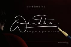 Windha Signature Font is Signature font. It's a modern font siganture. This is another elegant modern handwritten and signature which is combining the style of classic font with an modern style. Handwritten Fonts, Script Fonts, All Fonts, Font Squirrel, Classic Fonts, Signature Fonts, Retro Font, Uppercase And Lowercase Letters, Beautiful Fonts