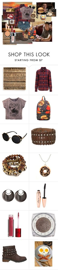 Breakfast with Dean by sabinamakili on Polyvore featuring мода, A.P.C., Calvin Klein Jeans, O-Mighty, Lacey Ryan, Dominic Jones, Tiny Hands, Topshop, L'Oréal Paris and Lola Cosmetics