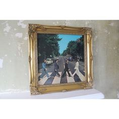 """Perfect for music lovers! A gold gilt, antique style frame for your favourite 12"""" vinyl record covers and LP's. Only £35. Free Delivery. Smaller frames for 7 inch singles also available!"""