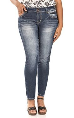WallFlower PlusSize Luscious Curvy Skinny Jeans in Katy Size24 * Be sure to  check out this